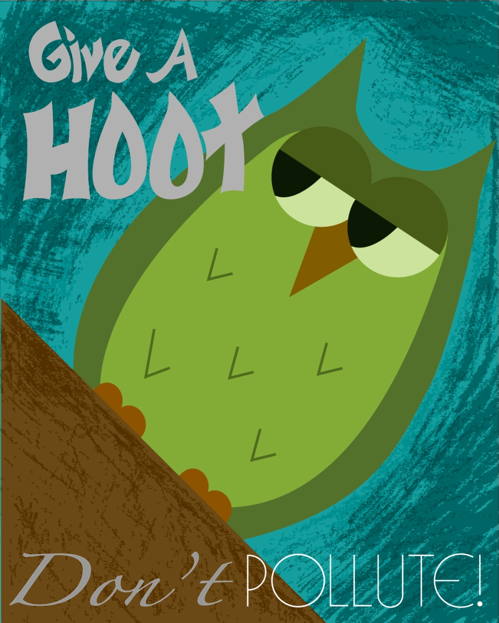 Give-a-hoot-teal