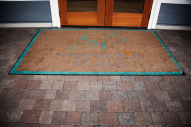The front mat at Stephens Place
