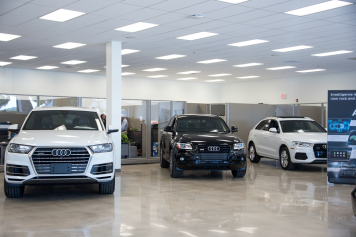 Showroom at Audi Shawnee Mission in Lenexa Kansas