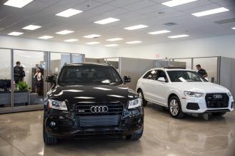 Showroom at Audi Shawnee Mission in Lenexa Kansas