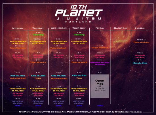 10th-Planet-Portland-Schedule